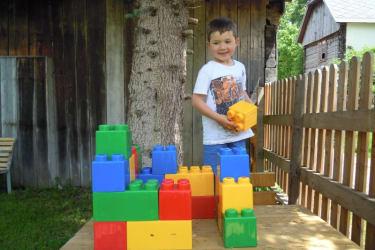 Bausteine Kinderspielplatz