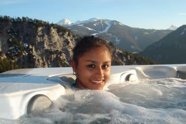Whirlpool in den Bergen