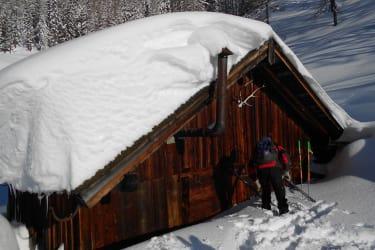 Die Alm im Winter
