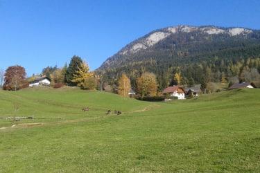 Herbststimmung mit Hausberg Röthelstein