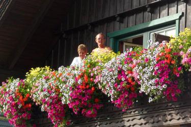 Unsere Gäste am Balkon