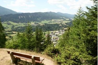 Blick vom Krakaudorfer Kalvarienberg - leicht zu erklimmen und dennoch atemberaubend