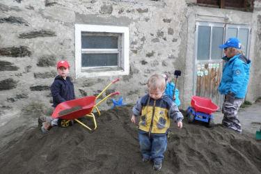 Sand spielen