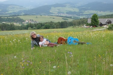 Oma Gerlinde und Nathalie