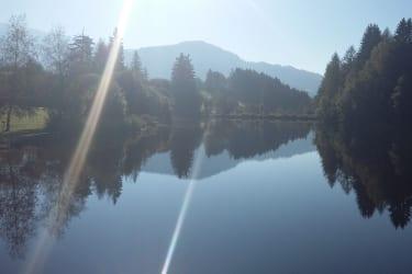 Morgensonne küsst See