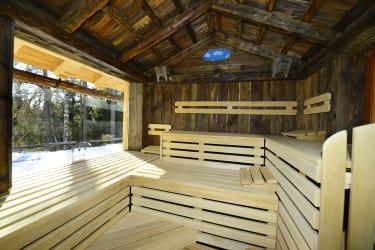 Sauna mit Panoramafenster