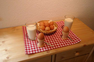 Milch und Eier