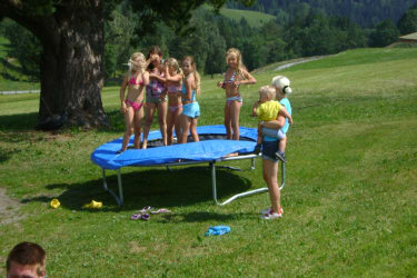 Spass am Trampolin