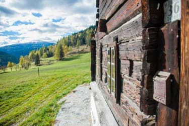 Blick vor die Hütte