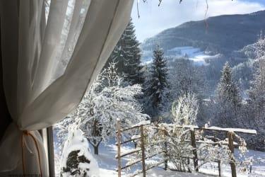 Kräutlhütte - ein Blick aus dem Fenster