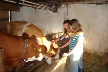 Die Kinder kümmern sich gerne um all unsere Tiere