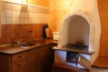 Die Küche in der Fischerhütte