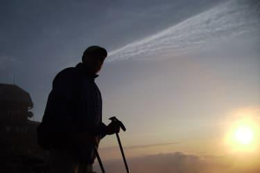 Sonnenaufgang am Zirbitzkogel