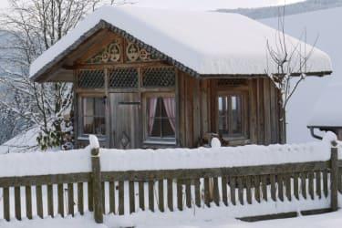 Unsere Gartenhütte im Winterzauber