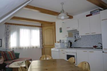 Wohnküche in der Ferienwohnung im Bauernhaus