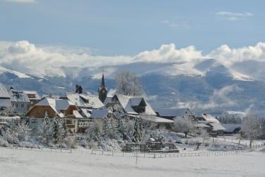 Dorf Zeutschach mit herrlicher Aussicht