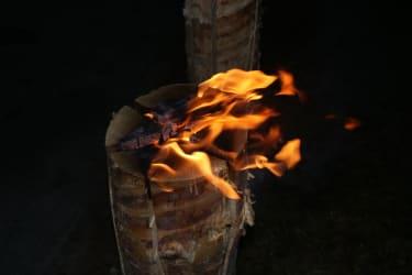 Strunkfeuer zu Silverster