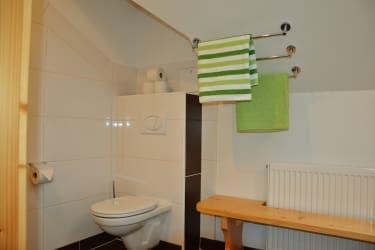Badezimmer mit  zweitem WC - Ferienwohnung Morgenrot