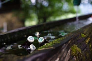 Unser Hofbrunnen, nicht nur das eigene Quellwasser kann Sie erfrischen!