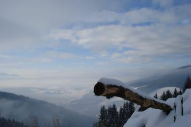Die Winterlandschaft liegt Ihnen zu Füßen