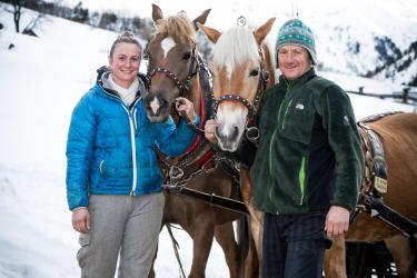 unsere Kutscher Beatrix und Fredl