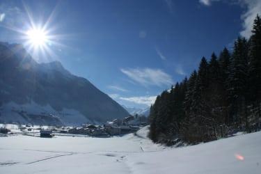 Doppelzimmer Ausblick im Winter