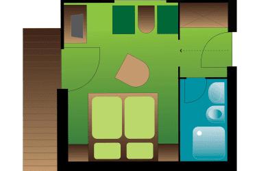 Doppelzimmer Zimmerplan