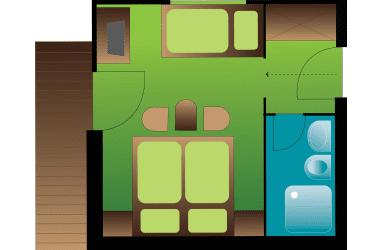 Dreibettzimmer Zimmerplan