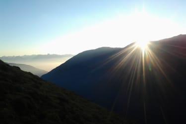 Sonnenaufgang Lampsenspitze (2900m)