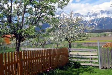 Garten mit Ausblick auf die Nordkette