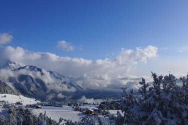 Winter Ausblick Oberperfuss