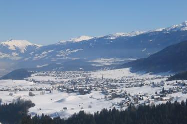 Winter Ausblick Mittelgebirge Axams