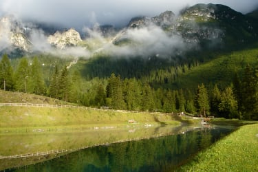 Great atmosphere at the Speichersee in the Schlickertal