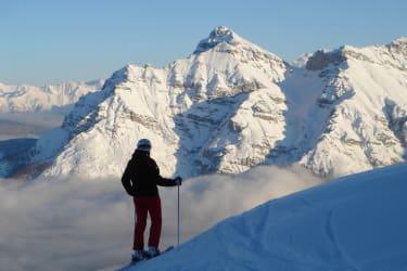 Florian mit der Serles und Zillertaler Alpen im Hintergrund