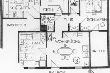 Viel Platz in der Wohnung Alpenblick