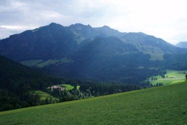 Ausblick zum Wildseeloder in Fieberbrunn von der Ferienwohnung aus