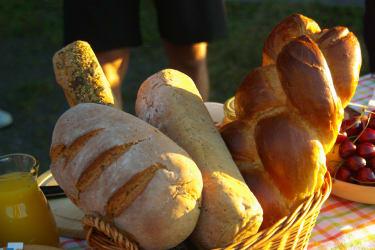 hausgemachtes Brot zum Frühstück