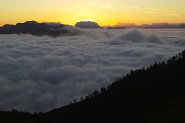Sonnenaufgang- Blick Richtung Kaisergebirge