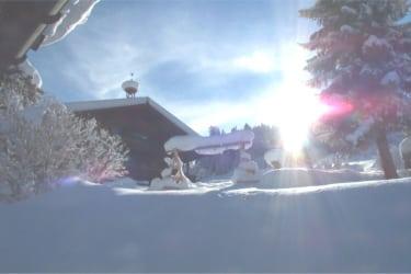 Ein herrlicher Wintertag am Gasteig