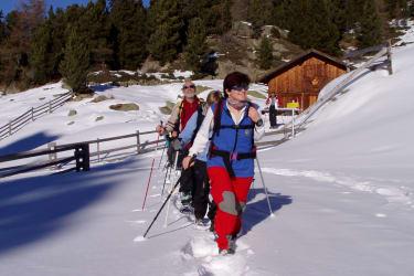 Scneeschuhwandern im Naturpark