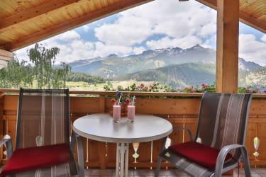 Ferienwohnung Arnika - Blick  auf die Berge