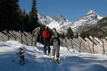Schneewandern im winterlichen Debanttal