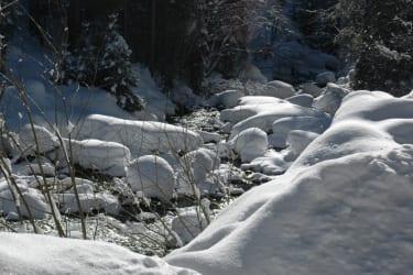 Winterliche Sonnenstrahlen - frische klare Bergluft