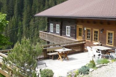 Terrasse vor der Ferienwohnung