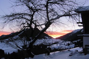 Sonnenaufgang mit Blick nach Kartitsch