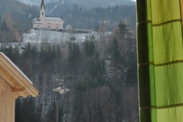 Winterausblick vom Kirchbichlzimmer