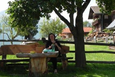 Elisabeth auf ihrem Lieblingsplatz