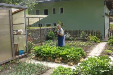 Unsere Oma im Garten