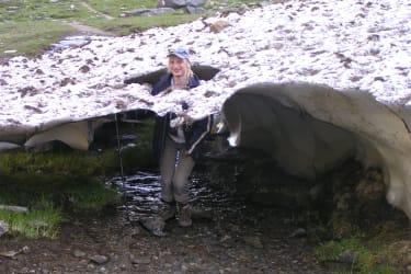 Schneefelder findest du auch in unseren Bergen