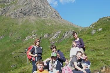Ausflug mit den Kindern zur  Badener Hütte-Löbbentörl-Innergschlöss.     Ein unvergessliche Hochgebirgstour mit Gletscherblick